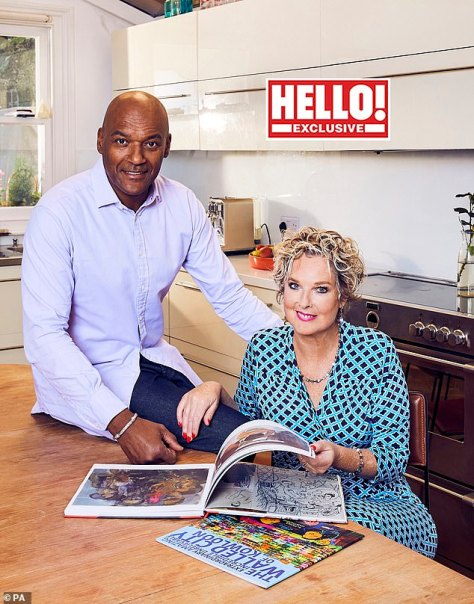 Difficult: Colin Salmon has revealed he 'wouldn't be here now' if he hadn't been rushed to hospital after contracting Covid in January this year (pictured with wife Fiona)