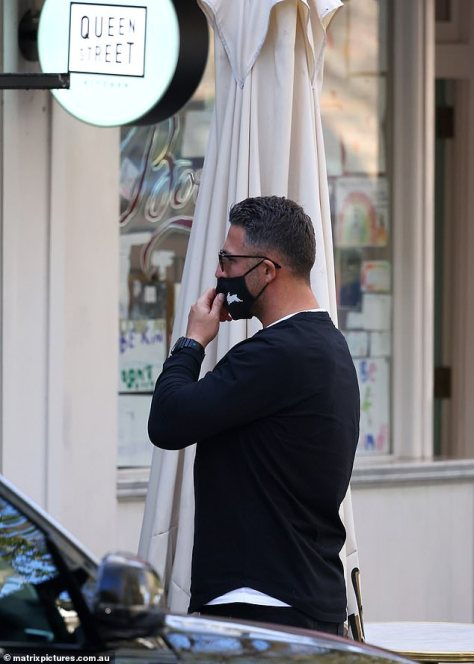 Stylish:Sam Burgess was every inch the brand ambassador on Thursday when he stepped out to grab a coffee decked out in his own label