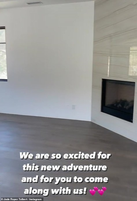 A new adventure: Roper posted this video as she filmed another room, this one with a fireplace, in the house