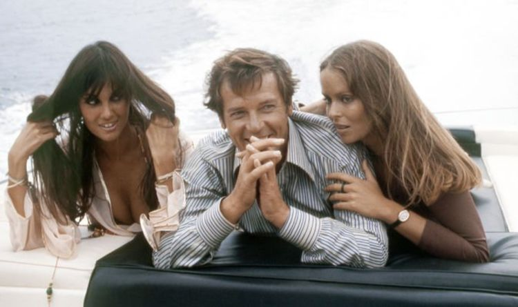 James Bond girl shows Roger Moore his naughty little trick in The Spy Who Loved Me