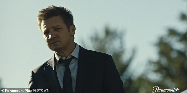 Brothers:Jeremy Renner and Kyle Chandler portray brothers who help run a prison town in the first trailer for Mayor of Kingstown