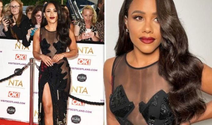 Alex Scott displays jaw-dropping talent as she shows off her amazing physique Figure in very sheer clothing for NTAs