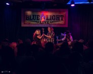 Bri Bagwell, William Clark Green, and Josh Serrato at The Blue Light. Photograph by Susan Marinello/New Slang.