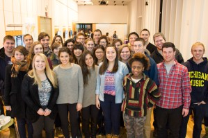 2015 Winter Minor in Writing Gateway students