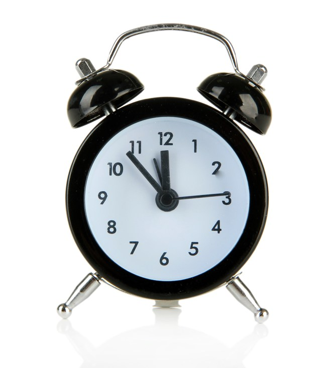 Old Style Alarm Clock Isolated 47879021