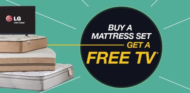 A Mattress Set Get Free Tv