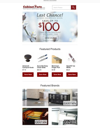 Cabinetparts Com S 48 Off Promo Code May 2017