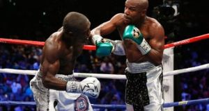 Floyd-Mayweather and Andre Berto