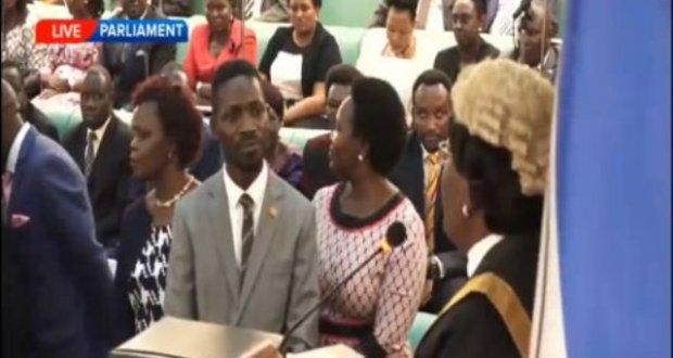 Bobi wine swears in
