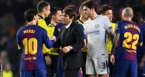 Messi send barcelona to the quarter finals
