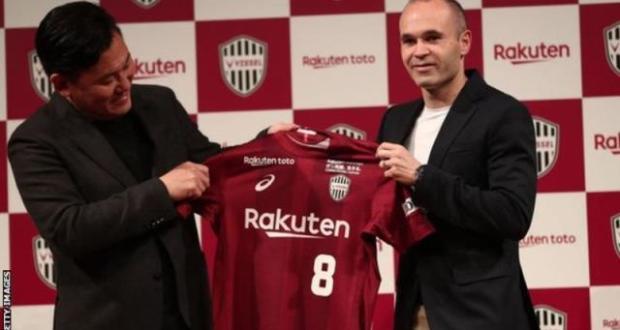 Iniesta signs for Kobe