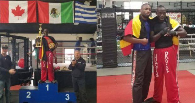tugume wins a belt in USA