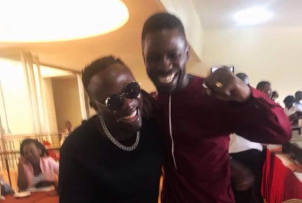 Geosteady And Bobi Wine Chilled Up At The Parliamentary Dining Hall