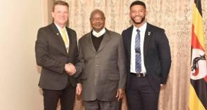 Museveni meets Rob Shuter