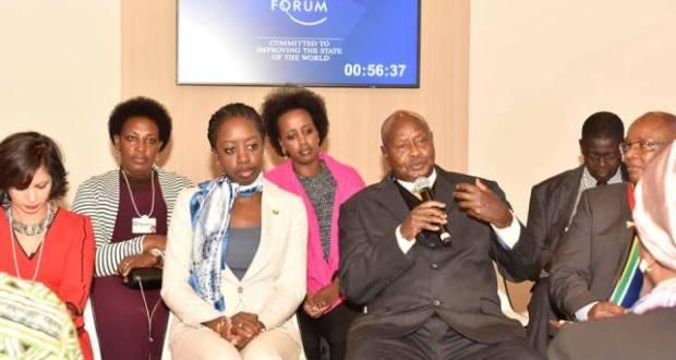 president Museveni at Davos
