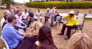 museveni at chobe safari lodge