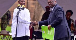 museveni handed over