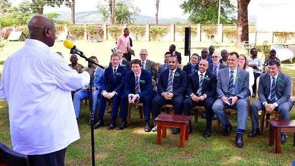 museveni meets UK trainees