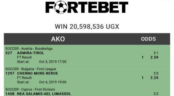 Fortebet customer wins 20m