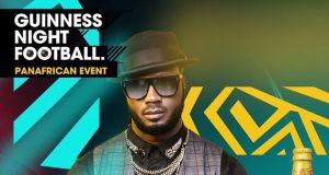 bebe cool at the bebe cool at Guinness Night Football Event'