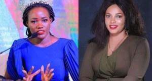 Miss Uganda Oliver Nakakande and Joan Lule Nakintu