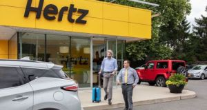 Hertz corporation declares bankruptcy