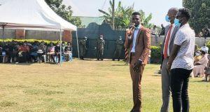 Bobi Wine attends Jackson Bell