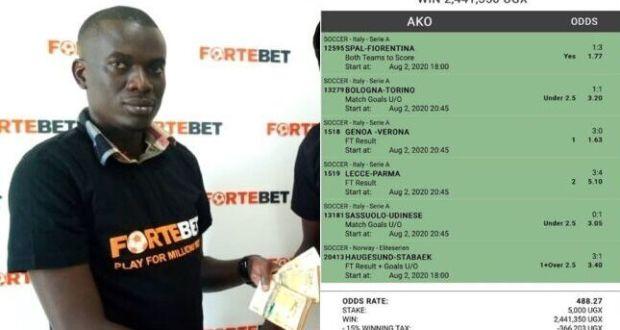 SENSATIONAL: How Super Odds Easily Won Shs2.4 Million From Fortebet