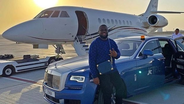 Ray Hushpuppi with his luxury acquisitions