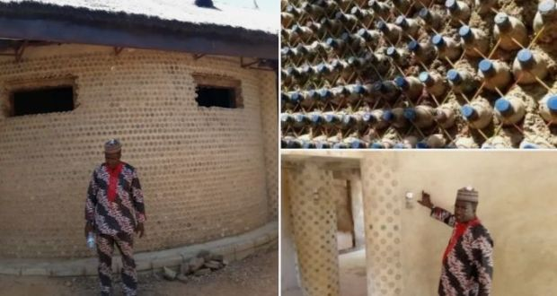 Nigerian Engineer Builds House With 14,800 Sand-filled Plastic Bottles As Bricks