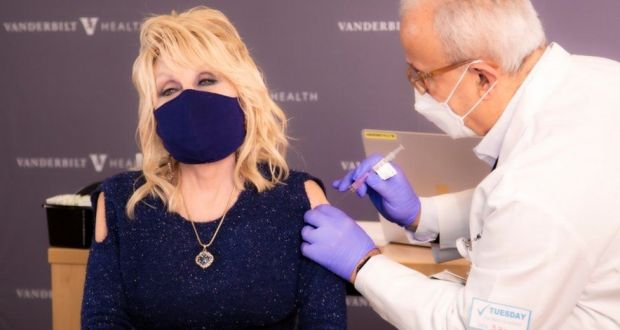 Country Music Star Dolly Parton Gets Vaccinated Against Covid-19