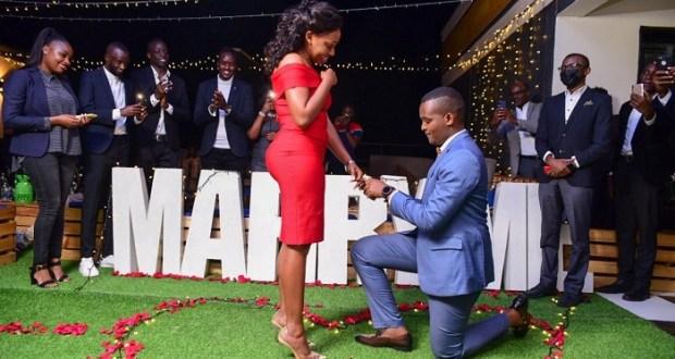 Canary Mugume Proposes To Long Time Girl friend Sasha