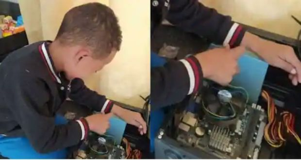 7 Year Old Son Grandson Builds Computers From Scratch, Netizens Felt Overwhelmed