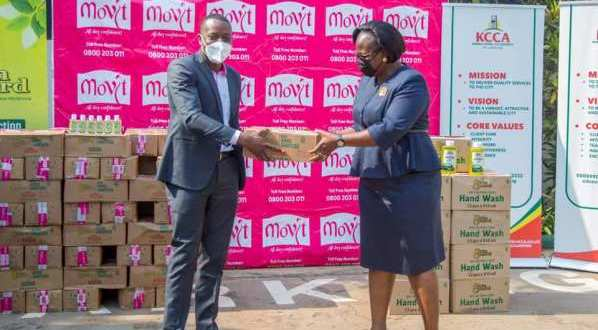 Movit Products Limited Donates Sanitizers And Hand Washing Gel Worth Shs30 Million To KCCA