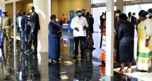 President Museveni Commissions Covid-19 Laboratories At Entebbe International Airport