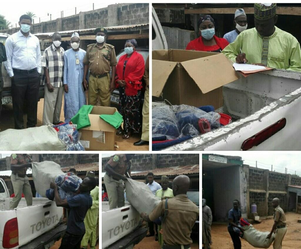 FMC Yola Donates Blankets, Bedsheets To Inmates At NCS, Yola