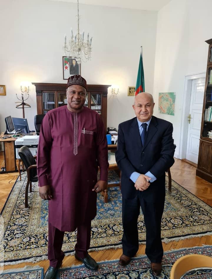 Ambassador Kevin Calls for African Brotherhood, Visits Algerian Ambassador