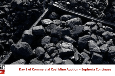 Day 2 of Commercial Coal Mine Auction – Euphoria Continues