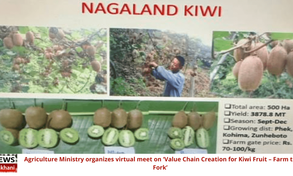 Agriculture Ministry organises virtual meet on 'Value Chain Creation for Kiwi Fruit – Farm to Fork'