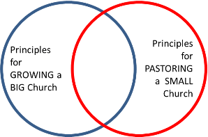 Big Church, Small Church priniples Venn diagram