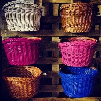 Colored baskets