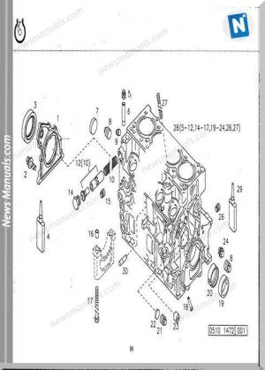 Deutz 1011F Engine Parts Diagram