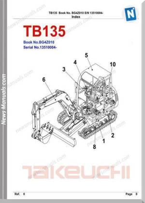 Takeuchi Tb135 Wiring Diagram  Wiring Diagram