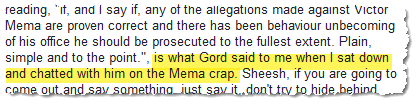 Robert Fuller disclosed that he had discussed Mr. Mema with his brother on March 10