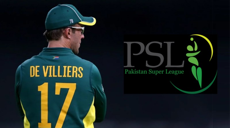 AB de Villiars Refuse to Play in PSL 5 2020