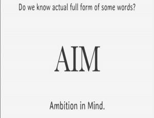 Full form of AIM