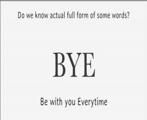 Full form of BYE