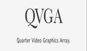 full form of QVGA