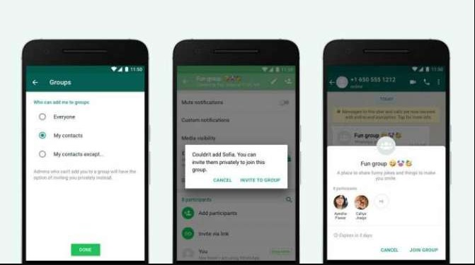 WhatsApp Group Joining Privacy Feature