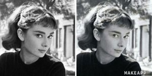 Audrey Hepburn without makeup